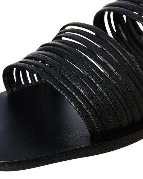 BLACK WOMENS FOOTWEAR SOL SANA SLIDES - SS191S333BLK