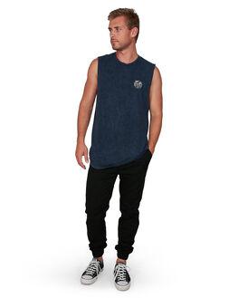 MIDNIGHT ACI MENS CLOTHING VONZIPPER SINGLETS - VZ-V901523-MDA