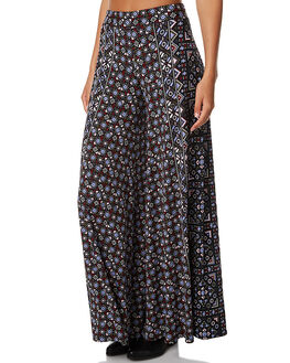 BLACK WOMENS CLOTHING TIGERLILY PANTS - T373374BLK