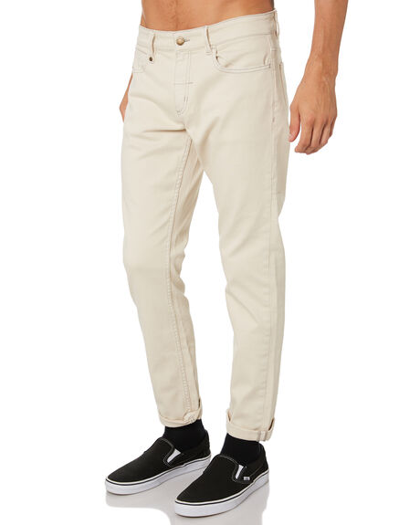 DIRTY WHITE MENS CLOTHING THRILLS JEANS - TDP-419ADWHI