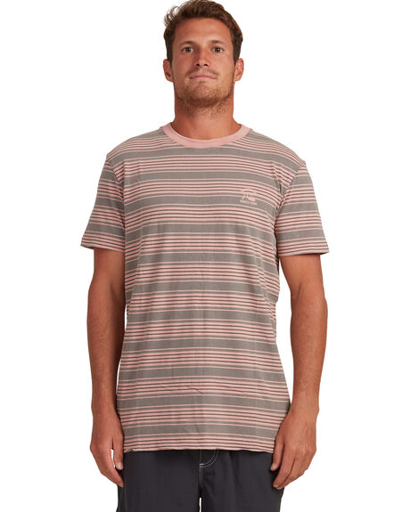 MISTY ROSE ACID STRI MENS CLOTHING QUIKSILVER TEES - EQYKT04095-MJY3