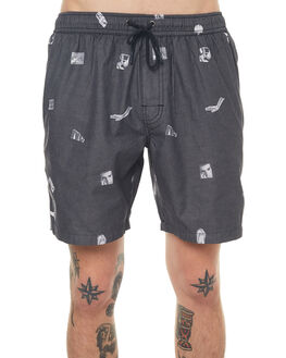 BLACK MENS CLOTHING NO NEWS BOARDSHORTS - N5171233BLACK