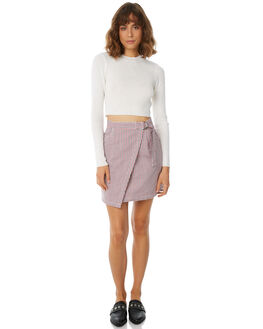 NAVY RED WOMENS CLOTHING THE FIFTH LABEL SKIRTS - 40180439-9NVRE