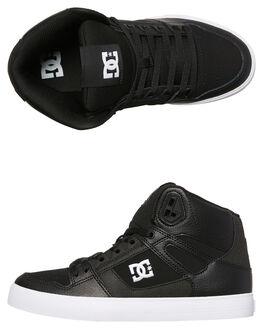 BLACK WHITE MENS FOOTWEAR DC SHOES HI TOPS - ADYS400043BKW