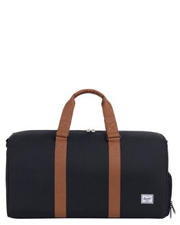 BLACK TAN MENS ACCESSORIES HERSCHEL SUPPLY CO BAGS + BACKPACKS - 10351-00001-OSBLKTN