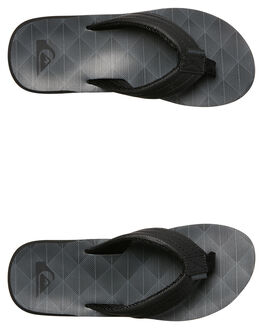BLACK BLACK GREY MENS FOOTWEAR QUIKSILVER THONGS - AQYL100559XKKS