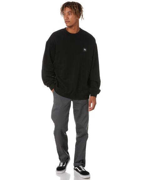 BLACK MENS CLOTHING STUSSY HOODIES + SWEATS - ST011203BLK