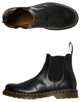 BLACK SMOOTH MENS FOOTWEAR DR. MARTENS BOOTS - SS22227001BLKM