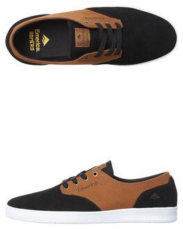 BLACK BROWN MENS FOOTWEAR EMERICA SKATE SHOES - 6102000089-590