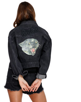 FADED BLACK WOMENS CLOTHING RVCA JACKETS - R491432FBLK