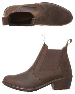 BROWN BUFF WOMENS FOOTWEAR ROC BOOTS AUSTRALIA BOOTS - SIERRABRNB