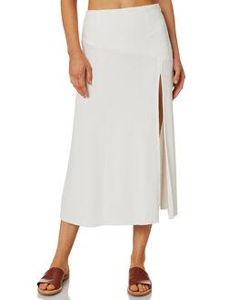 WARM WHITE WOMENS CLOTHING ZULU AND ZEPHYR SKIRTS - ZZ2399WWHT