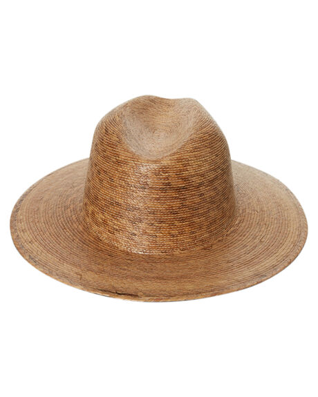 NATURAL WOMENS ACCESSORIES LACK OF COLOR HEADWEAR - PLMLEAFFED1NAT