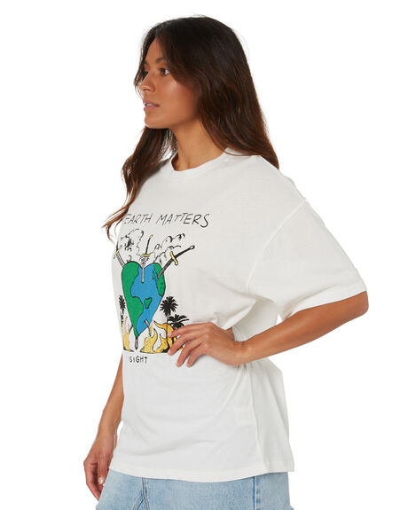ROCKABILLY WHITE WOMENS CLOTHING INSIGHT TEES - 1000088565RWHT