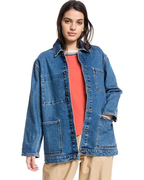 MEDIUM BLUE WOMENS CLOTHING QUIKSILVER JACKETS - EQWJK03038-BYGW
