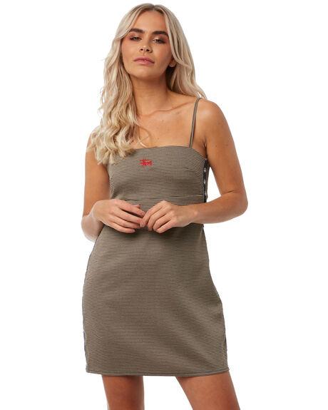BLACK WOMENS CLOTHING STUSSY DRESSES - ST181508BLK