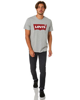 HEATHER GREY MENS CLOTHING LEVI'S TEES - 17783-0138