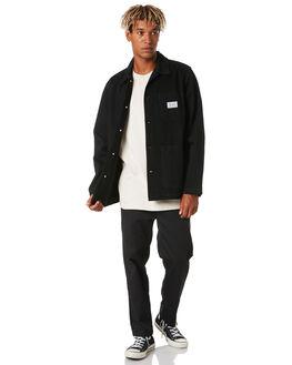 BLACK MENS CLOTHING STUSSY JACKETS - ST006513BLK