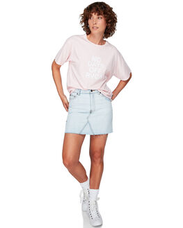BARELY PINK WOMENS CLOTHING RVCA TEES - RV-R292681-BAF