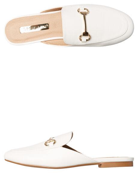 WHITE WOMENS FOOTWEAR BILLINI FLATS - F400WHT