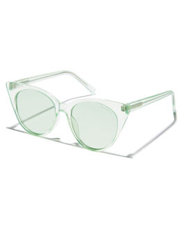 TRANSPARENT MATTE AQUA OUTLET WOMENS BOND EYE SUNGLASSES - BES005AQU