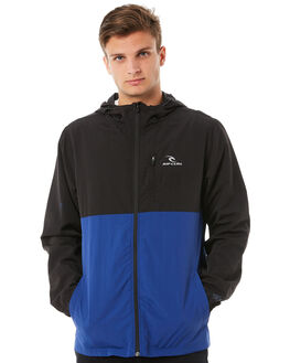 BLACK MENS CLOTHING RIP CURL JACKETS - CJKDM10090