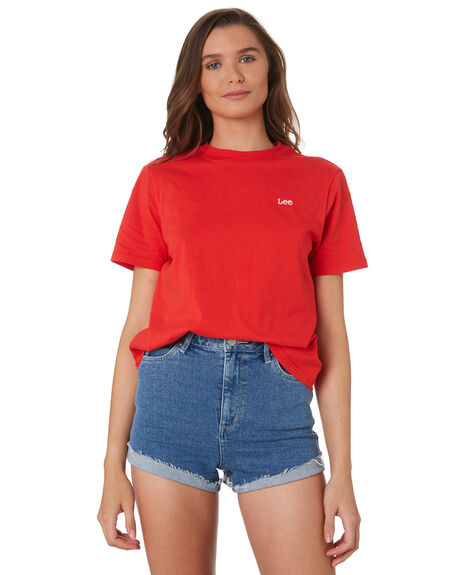 RED WOMENS CLOTHING LEE TEES - L-651880-338RED