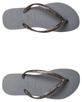 GREY GRAPHITE WOMENS FOOTWEAR HAVAIANAS THONGS - 41198753744