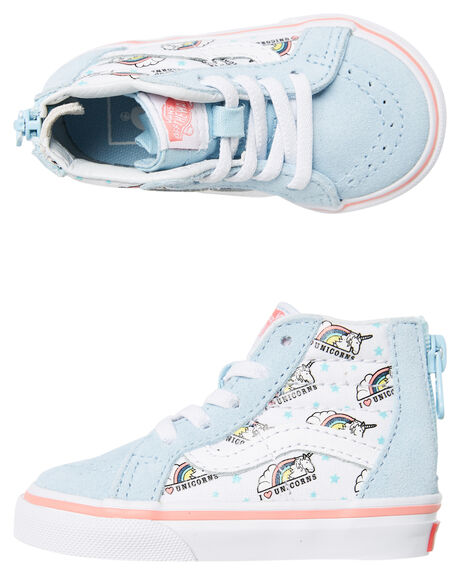 UNICORN BLUE KIDS GIRLS VANS FOOTWEAR - VNA32R3VJ5