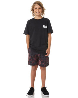 HOT CORAL KIDS BOYS RUSTY BOARDSHORTS - BSB0339HCL