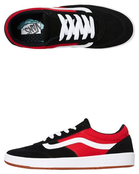 BLACK RED MENS FOOTWEAR VANS SNEAKERS - VNA3WLZOK3BLKR