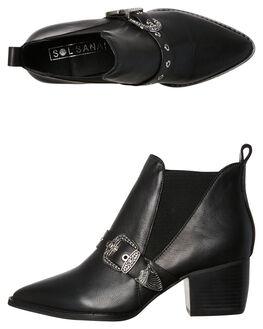 BLACK WOMENS FOOTWEAR SOL SANA BOOTS - SS181W409BLK