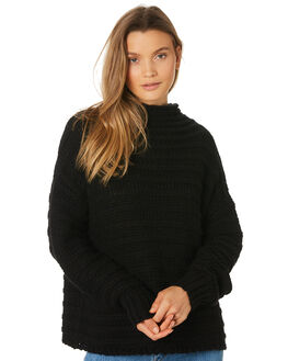 BLACK WOMENS CLOTHING RHYTHM KNITS + CARDIGANS - JAN19W-KN01-BLK