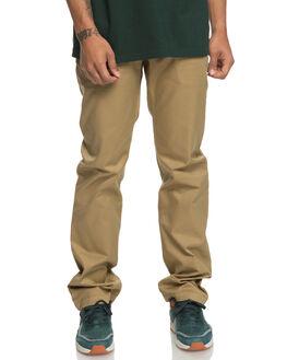 KHAKI MENS CLOTHING DC SHOES PANTS - EDYNP03136CLM0
