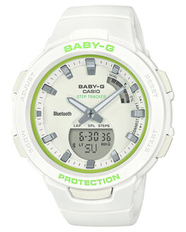 WHITE GREEN WOMENS ACCESSORIES BABY G WATCHES - BSA-B100SC-7ADRWHIGR