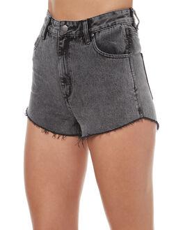 NIRVANA BLEACHED WOMENS CLOTHING WRANGLER SHORTS - W-950854-DG1NIRVB