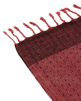 BURGANDY WOMENS ACCESSORIES MAYDE TOWELS - 18TREBUR