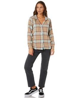 KHAKI WOMENS CLOTHING HURLEY FASHION TOPS - BQ0027235