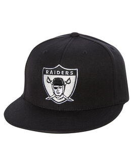 BLACK MENS ACCESSORIES MITCHELL AND NESS HEADWEAR - MO18668BLK