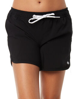 BLACK KIDS GIRLS RIP CURL SHORTS - JBOAW10090