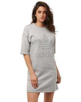 GREY HEATHER WOMENS CLOTHING ADIDAS ORIGINALS DRESSES - CD6912GREY