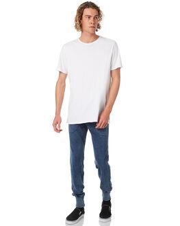 ACID BLUE DENIM MENS CLOTHING BONDS PANTS - AY3JIGAG