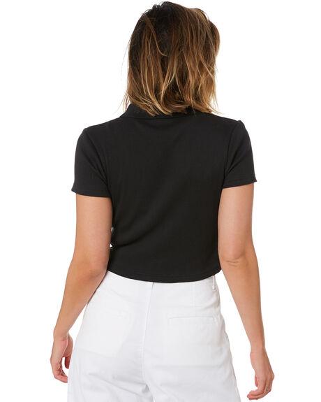 BLACK WOMENS CLOTHING STUSSY TEES - ST102104BLK