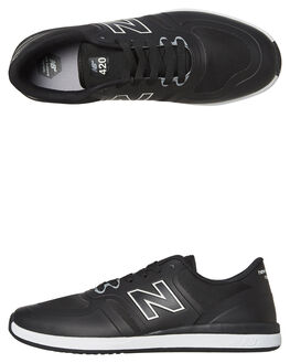 BLACK WHITE MENS FOOTWEAR NEW BALANCE SKATE SHOES - NM420BKG