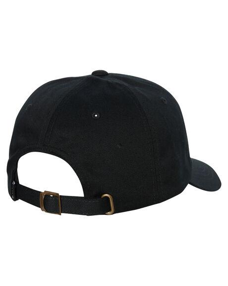 BLACK MENS ACCESSORIES HUF HEADWEAR - HT00345-BLACK