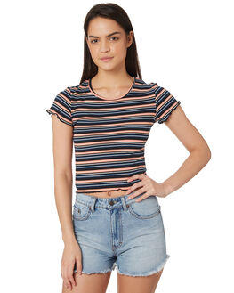 STRIPE WOMENS CLOTHING ALL ABOUT EVE TEES - 6415080STR