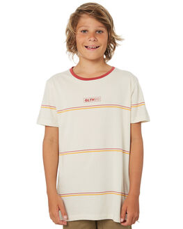 VINTAGE WHITE STRIPE KIDS BOYS ST GOLIATH TOPS - 2421008VWHT