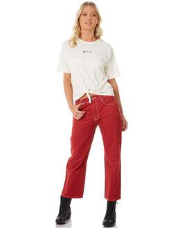 VINTAGE WHITE WOMENS CLOTHING RVCA TEES - R281694VWH