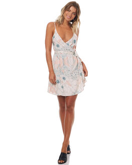 PALE DOGWOOD FLORAL WOMENS CLOTHING ROXY DRESSES - ERJWD03154NDS2