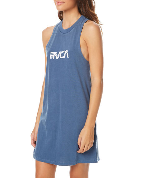 WASHED DENIM WOMENS CLOTHING RVCA DRESSES - R262756WDNM